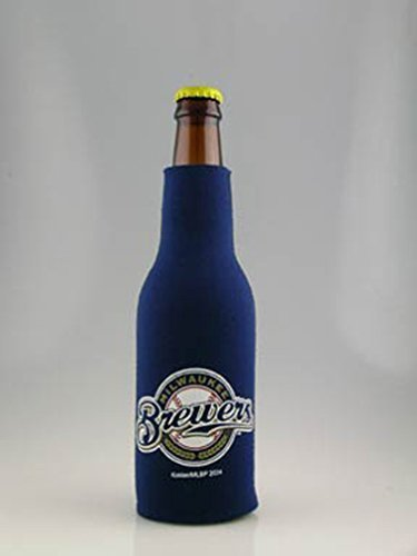(MILWAUKEE BREWERS MLB BOTTLE SUIT KOOZIE COOLER COOZIE)