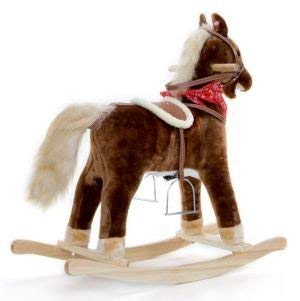 SCHAUKELPFERD Brownie mit 2 Funktionen Galoppger/äusch und Pferdegewieher supers/üss Steckenpferd