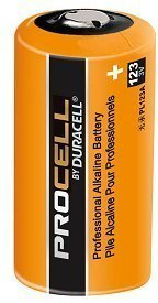 Pack of 10 Duracell Procell Professional PL123A 3V Photo Lithium Battery - Bulk Pack - with FREE Clear Battery Storage Holder Case