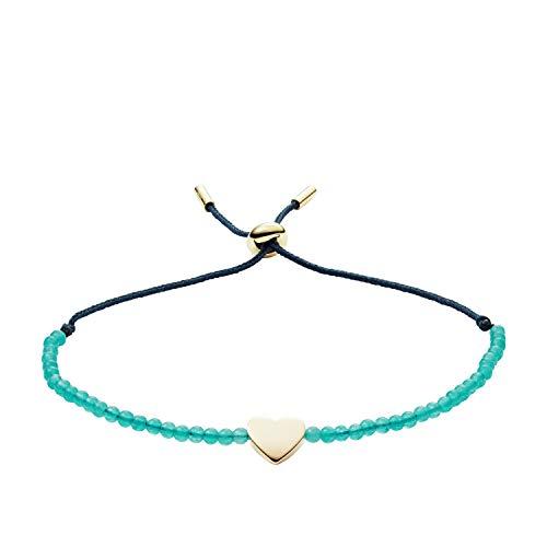 Fossil Women's Jade Heart Bracelet, One Size -