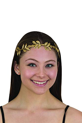 Jacobson Hat Company Metal Laurel Leaf Golden Crown Adult Costume Headband -