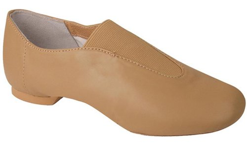 Dance Class Adult Leder Center Gore Slip-On Jazz Schuh Karamell