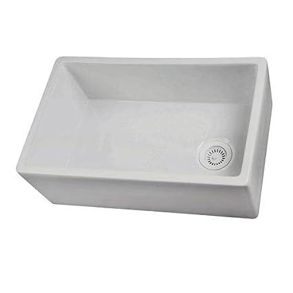 Superbe Barclay FS30 30 Inch Fire Clay Farmer Sink, White