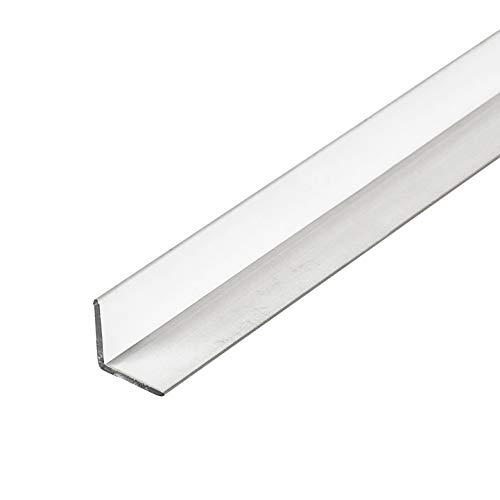 Outwater Plastics 520-CL 1/2 Inch X 1/2 Inch X 3/64 (.047) Inch Thick Clear Butyrate Clear Plastic Even Leg Angle Moulding 46 Inch Lengths (Pack of - 520 Wall
