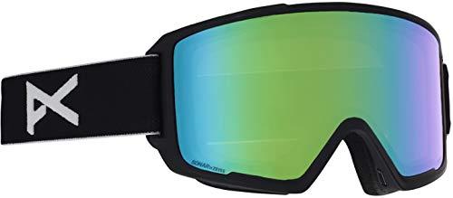 Anon Goggle Lenses - Anon M3 Goggle with Spare Lens, Black Frame Sonar Green Lens