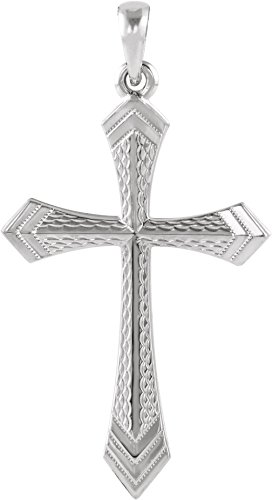 14k White Gold Passion Cross Pendant by The Men's Jewelry Store