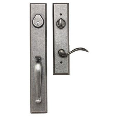 Sandcast Entrance Handleset Finish: Aged Pewter, Type: Single ()