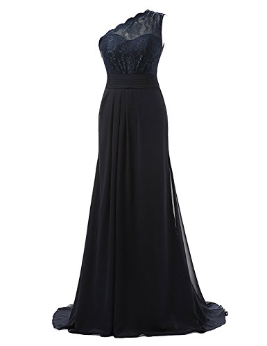 Abendkleider Shoulder Kleider Damen One Blue Formelle Fanciest Navy Blue Kleider Spitzen Navy Ball TEYXZxqw