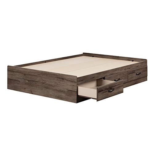 South Shore 11914 Ulysses Full Mates Bed, Fall Oak