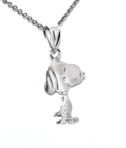 Sterling Silver Brush Finish Snoopy Charm ()