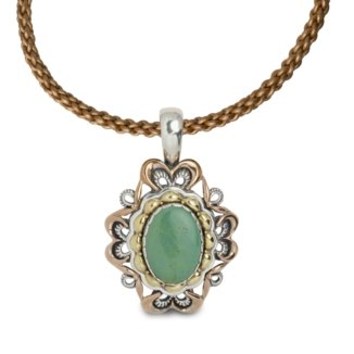 Carolyn Pollack Sterling Silver Green Turquoise Pendant Enhancer by Carolyn Pollack (Image #4)