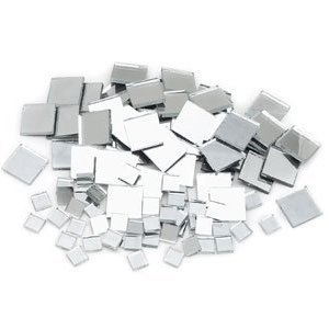 Mosaic Mercantile Mirrortile Square Assorted Mirror Tile, 3/4-Inch and 3/8-Inch, 500 Count