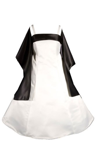 AMJ Dresses Inc Big Girls' Ivory/black Flower Girl Dress ...