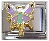 - Clearly Charming Fairy with Purple Wings Italian Charm Bracelet Link