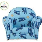 KidKraft Airplanes Upholstered Rocker with Slip Cover Toy