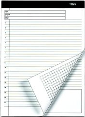(Docket Gold Planning Pad, Ruled, 8-1/2 x 11-3/4, WE, 4 40-Sheet Pads/Pack)