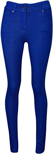 36 54 Jeggings Da Taglie Donna Skinny Blue Jeans Leggings Colorati Nuovo Stretch Royal Forti vFppPq