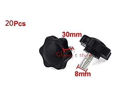 8mm x 15mm Male Thread Pentagram Head 30mm Height Clamping Knob 5 Pcs