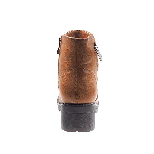 Fashion4Young, Bottes pour Femme 5008-1-camel