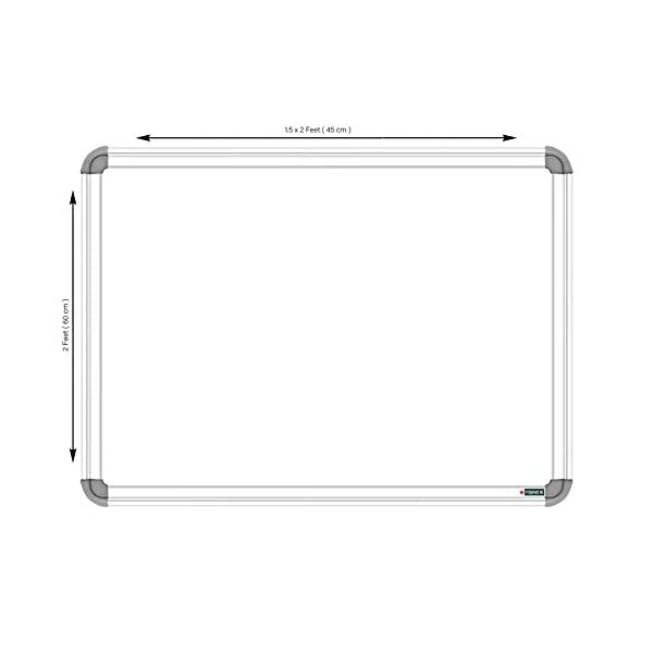 YAJNAS Non Magnetic 1.5x2 Feet Double Sided White Board and Chalk Board Both Side Writing Boards, one Side White Marker and Reverse Side Chalk Board Surface - Pack of 1 4