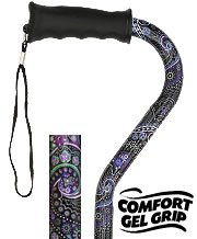 Purple Majesty Walking Cane Comfort Gel Grip
