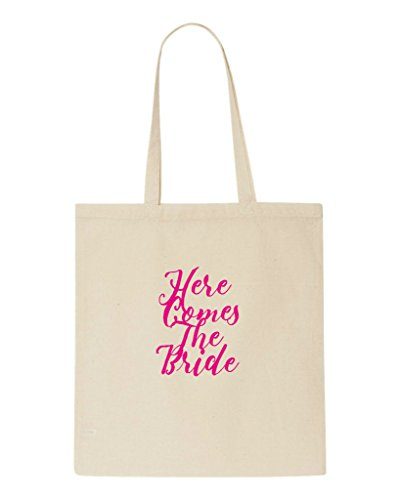 Bag Beige The Shopper Bride Comes Customised Tote Hen Do Party Personalised Here wqzBIfvP