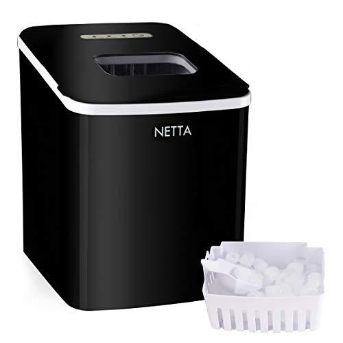 NETTA Ice Maker Machine Large 12kg Capacity 1.8L Tank | Ice Ready in 10...