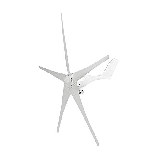 (IRONWALLS Wind Turbine Windmill Power Generator Kit 500W DC 12V 5 Blade with Controller White for Home Business Industrial Energy)