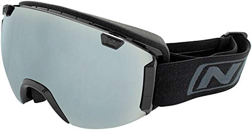 Optic Nerve Goggles - Optic Nerve Boreas Interchangeable Snow Goggle Shiny BLK Spare Lens Included