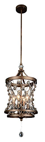 4 Light Up Pendant with Speckled Bronze Finish ()