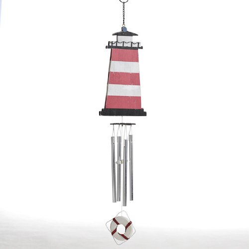 Colorful and Fun Red and White Lighthouse Wind (Lighthouse Wind Chime)