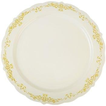 10u0026quot; Bone Dinner Plates u0026quot;Heritageu0026quot; Heavy Duty Disposable  sc 1 st  Amazon.com & Amazon.com: 120 ct. 10