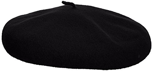 Kangol Unisex-Adults Anglobasque Beret, Black, L