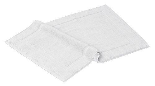 Luxury Combed Cotton Bath Mat 21-Inch x 29-Inch (White) 2 Pack (29 Inch Bath)