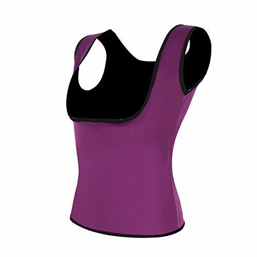 Yall Corsé Mujer Pecho y abdomen gimnasio Body Shirt Purple