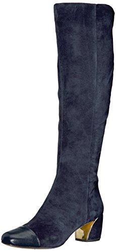 Nine West Women's Jatoba Knee High Boot, Navy Suede, 10 Medium US