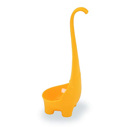 Elephant Soup Ladle Stand Up Adorable Scoop 4 oz Per Cute Gift Not Nessie - Orange Ladle