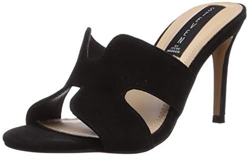 STEVEN by Steve Madden Women's Nylah Heeled Sandal, Black Suede, 9.5 M US ()