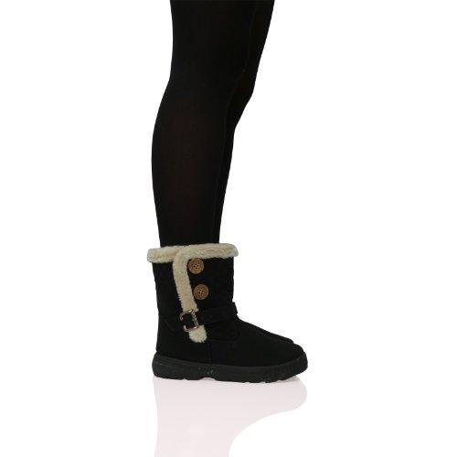 Los Pulsera Boot Pelo 2 S2m Blancanieves Forro Con Bailey Negro caqui Dos Montar Ankle Acolchada Para De Silla Diseño Mujer Y xwgfxqa