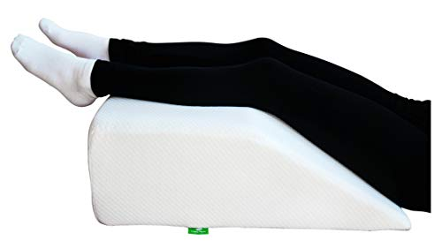 Post Surgery Elevating Leg Rest Pillow with Memory Foam Top