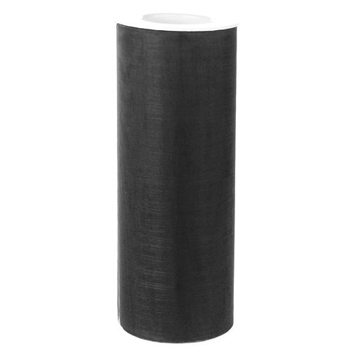 Homeford Firefly Imports Organza Spool Roll, 6-Inch, 25 Yards, Black, Black 25 Yd Roll