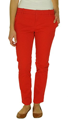 Tommy Hilfiger Womens Hampton Twill Slim Chino Pants Red 4