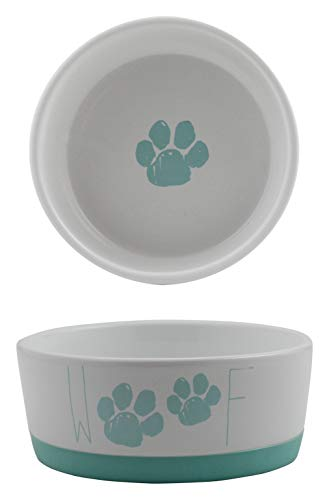 Winifred & Lily Ceramic Pet Bowl for Food & Water, with Non-Skid Rubber Bottom for Small, Large Dogs and Cats with…