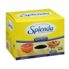Splenda No Calorie Sweetener Packet - 400 per pack - 4 packs per case.