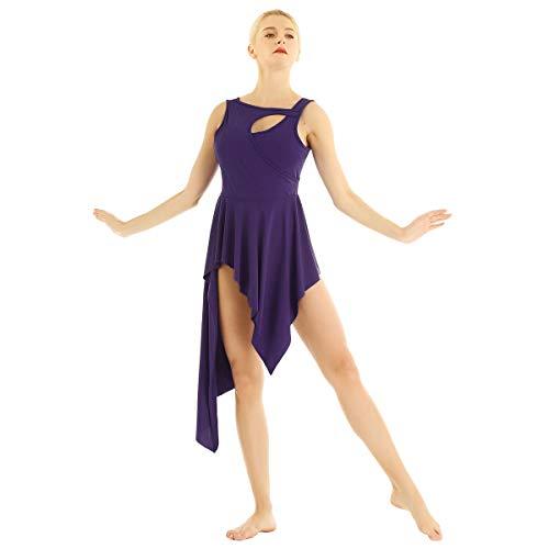 CHICTRY Women Crew Neck Lyrical Ballet High
