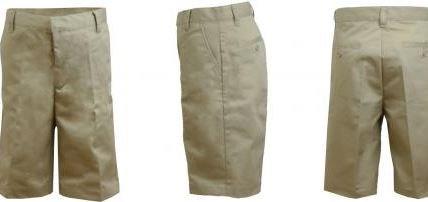K&A Company Boys Flat Front Shorts Khaki - Size 6 Case Pack 24 by K&A Company