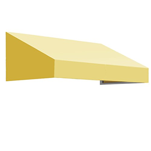 Awntech 5-Feet New Yorker Window/Entry Awning, 16-Inch Height by 30-Inch Diameter, Light Yellow