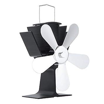 Wenwenzui-ES Ventilador de la Estufa accionado por Calor Ventilador de la Estufa de 5 Cuchillas para Estufa de leña/Quemador de leña: Amazon.es: Hogar