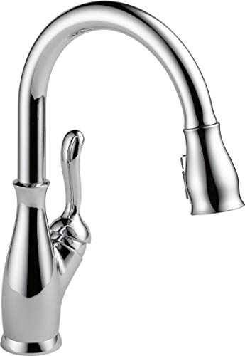 Leland Series Delta (Delta Faucet Leland Single-Handle Kitchen Sink Faucet with Pull Down Sprayer, ShieldSpray Technology and Magnetic Docking Spray Head, Chrome 9178-DST (Certified Refurbished))
