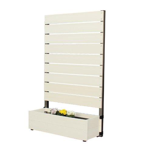 プランタボックス付コンフォートフェンス 幅90センチx高さ150センチ 板間隔1センチ ホワイト B009HNBNES 23628